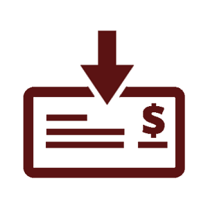 Mobile Deposit Icon_maroon